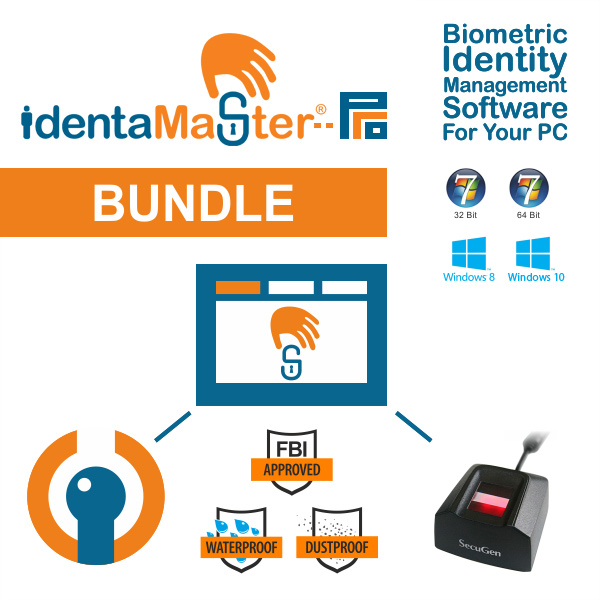 IdentaMaster Biometric Bundle with SecuGen Hamster Pro 20 Fingerprint Reader
