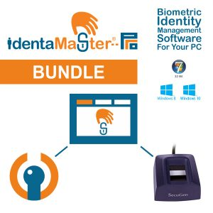 IdentaMaster Biometric Bundle with SecuGen Hamster Pro HUPx Fingerprint Scanner