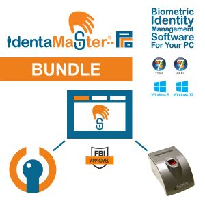 IdentaMaster Biometric Bundle with SecuGen Hamster Pro iD-USB SC/PIV Fingerprint Reader / PC/SC Smart Card Reader