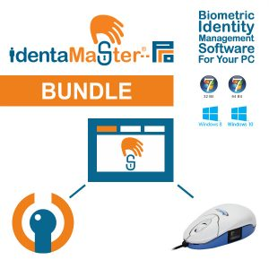 IdentaMaster Biometric Bundle with SecuGen Optimouse Plus Fingerprint Reader USB Mouse