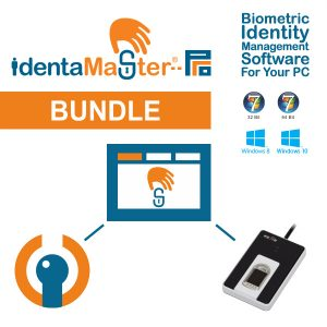 IdentaMaster Biometric Bundle with Miaxis SB-2u Capacitive Fingerprint Reader