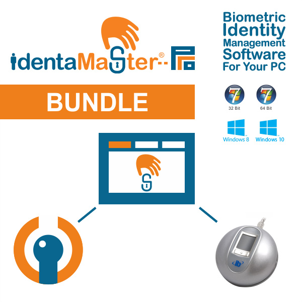 IdentaMaster Biometric Bundle with Integrated Biometrics The Curve 340 Fingerprint Reader