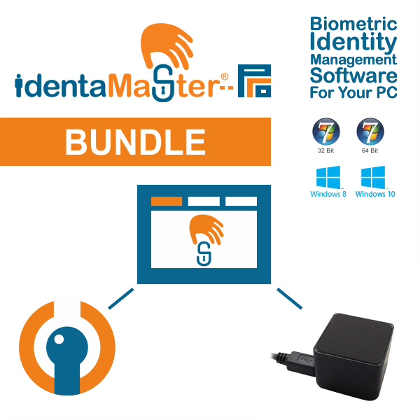 IdentaMaster Biometric Bundle with Fujitsu PalmSecure V2 Sensor KD03816 Palm Vein Reader