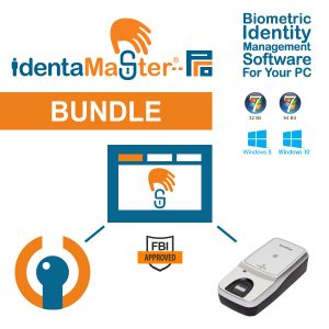 IdentaMaster Biometric Bundle with SecuGen Hamster Pro Duo CL Fingerprint Reader