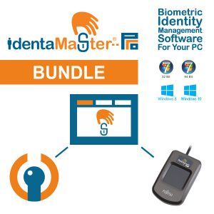 IdentaMaster Biometric Bundle with Fujitsu PalmSecure V2 Sensor KD03816 Palm Vein Reader with Shell