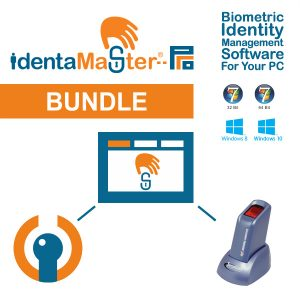 IdentaMaster Biometric Bundle with SecuGen Hamster Plus HSDU03P Fingerprint Reader