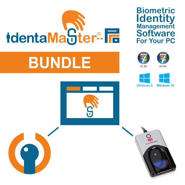 IdentaMaster Biometric Bundle with Crossmatch Digital Persona U.are.U 4500