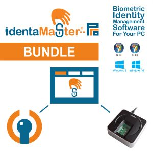 IdentaMaster Biometric Bundle with Fulcrum Futronic FS88H Fingerprint Scanner